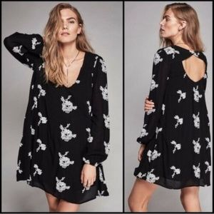 Free People Emma Austin Embroidered Swing Dress